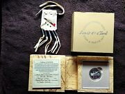 2004 Lewis And Clark Coin And Pouch Set Wanda Moran Inilu Ku Win - Peace Pipe