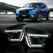 Led Drl Daytime Running Lights With Yellow Turning Signal For Mazda Cx-5 13-16