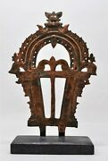Antique Copper God Worship Arch Original Old Hand Crafted Engraved