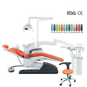 Dental Integral Unit Chair Computer Controlled B2 W/doctor Stool Hard Leather Ce