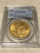 1910 Ms63 Pcgs Saint Gaudens Double Eagle 20 Gold Coin Pq Great Appeal Obl