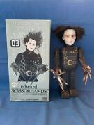 Old Vintage Tin Wind Up Edward Scissor Hands Figure Toy With Box From Japan 1998