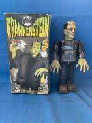 Old Vintage Tin Wind Up Frankenstein Figure Toy With Box From Japan 1980