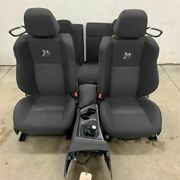 15-18 Challenger Front Buckets And Rear Bench Seat Set W Floor Console 2218760