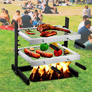 Vevor Tuscan Fireplace Grill Santa Maria Adjust Stainless Argentine Bbq Grill