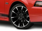 American Muscle Gt / Cs Style Wheel In Black Machined 19x8.5 Fits Mustang 99-04