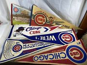 Vintage Chicago Cubs Pennants 29 Wrigley Field Division Champions Lot Of 6