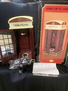 Spirit Of St Louis 1930 Lighted Phone Box Wooden Cabinet Telephone Booth New