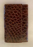 Six Hook Key Ring Case - Brown Crocodile - Made In Italy - Never Used