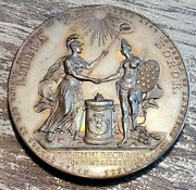 Amazing 1904 Holland Society Liberty Soror Medal By Bailey Banks And Biddle Toned