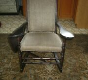 Antique Drop-leaf Arm Rocking Chair 1890 Professionally Restored Recently