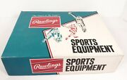 Vintage Rawlings Baseballs Empty Box Sports Equipment Great Graphics Official