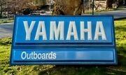 Vintage Yamaha Motorcycle And Outboard Boat Motor Lighted Dealership Sign Gas Oil