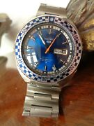Rare Vintage Seiko Rally Diver 6119-7173 Sport 5 Day Date Automatic Watch