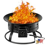 58000btu Firebowl Outdoor Portable Propane Gas Fire Pit With Cover And Carry Ki
