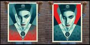 Obey Shepard Fairey Justice Woman Red And Blue Set Of Screen Prints Edition Of 550