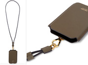 Tom Ford Grain Leather Iphone Phone Case Lanyard Pouch Bag Neck Strap