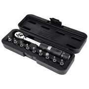 30x1/4inch Dr 2-14nm Bike Torque Wrench Set Bicycle Repair Tools Kit Ratchet