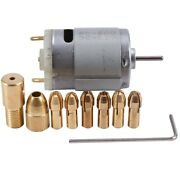 30x1pc Dc 12v 500ma Mirco Motor With 6pcs 0.5-3.2mm Drill Collet Electric Pcb