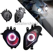 White Angel Red Demonl Eyes Headlight Hid Projector Lamp For Bmw S1000rr 2009-14