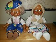 Naber Kids Wooden Walter And Sissi 1988 Doll Lot Euc