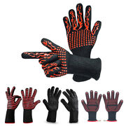30x1 Pair Heat Resistant Thick Silicone Cooking Baking Barbecue Oven Gloves Bbq