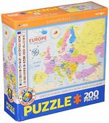 Eurographics Eurhr Map Of Europe 200piece Puzzle 200piece Jigsaw Puzzle