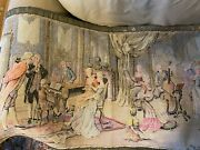 Large 47 X 25 Tapestry Wall Hanging Music Parlor Scene - French Woven