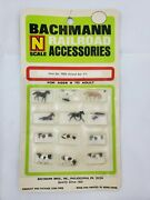 New Vintage Nos Bachmann N Scale Animal Set 1 Accessories