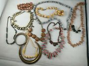 Vtg Antique Old Mexico Southwest Tribal Native Jewelry Lot Brass Clay Wood+ Kk