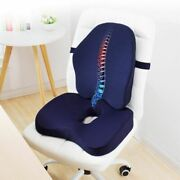 Memory Foam Seat Cushion Orthopedic Pillow Office Chair Support Waist Back Sets