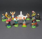 Old French Miniature Santons Nativity Figurines Provence Christmas Crèche Fouque