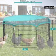 Large Outdoor Metal Cage Chicken Run Coop Rabbit Pen Small Animal House Hutch