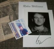 Robin Williams Autographed Photo And Photos - Very Collectible