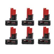 Milwaukee M12 12-volt Lithium-ion Xc Extended Capacity Battery 6- Pack 6.0ah