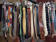 1000 Piece Wholesale Lot Womens/ladies Belts Nwt In Assorted Styles And Sizes