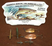 6 Hardy Vintage Spoon Spinner And Devon Lure Baits In Assorted Sizes