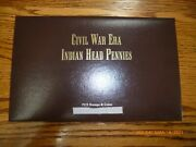 Pcs Stamps And Coins Indian Head Civil War Era Panels 1861-1865 6 Coins +stamps
