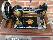 Jones Family Vintage Sewing Machine With Attachments Vintage Home Decor