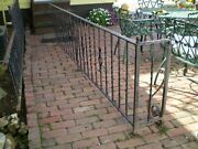 Antique Wrought Iron Fence 5 Sections