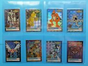 1999 Digimon Exclusive Preview Series 1 Gold Stamp Holo Set U1-u8 Nm/mt