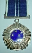 Medals-south African Southern Cross Medal 1975 Numbered 4129 Stamped Silver
