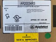Appleton Ar20034rs Pin And Sleeve Receptacle, 200a, 600v New