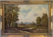 Listed Artist Karl Gatermann Germany 1909-1992 Large Oil Painting On Canvas