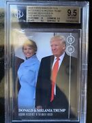 2016 Election Topps Now 17 Donald And Melania Trump - White House - Sp - Bgs 9.5