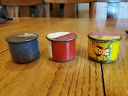 Lot Of 3 Antique Tin Litho Rattle Toys With Puppy And Kitten