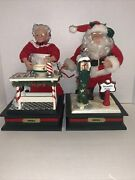 Holiday Creations Christmas Animated Musical Lighted Mrs Santa Claus Mail Baking