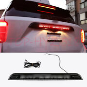 Accessories Black Rear Door Trunk Led Tail Light Cover For Ford 2020-21 Explorer
