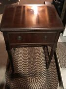 Vintage 1940's New Home Sewing Machine And Table