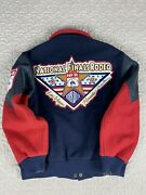 Nfr National Finals Rodeo 1996 Las Vegas Wool And Leather Varsity Jacket L Bimber